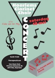 Concert Haarlems Clarinet Choir Antroposofische Vereniging Haarlem