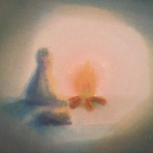 Cursus Grot- Landschapreeks, de innerlijke reis schilderen Marijke de Vries kunstzinnige therapie beeldend