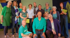 Aanvang nieuwe koorseizoen van Encanto in Alkmaar/Daalmeer Stemonthulling Zanglessen en koorvorming Maria Tomassen