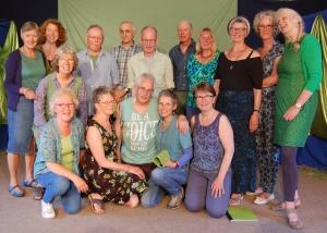 Aanvang nieuwe koorseizoen van het Parcivalkoor in Hoorn Stemonthulling Zanglessen en koorvorming Maria Tomassen