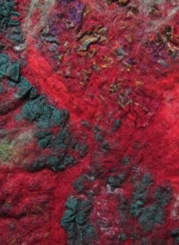 schilderen met stoffen en viltwol Praktijk voor Schildertherapie in licht, kleur en duisternis Anna Robadey