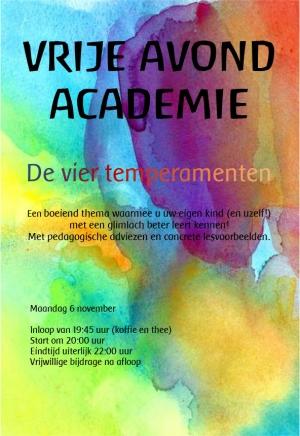Vrije Avondacademie | Tempramenten Rudolf Steinerschool Haarlem Vrijeschool basisonderwijs