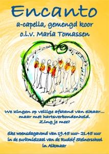 Zingen in Encanto in Alkmaar? Stemonthulling Zanglessen en koorvorming Maria Tomassen