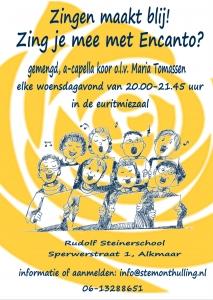 Zingen maakt blij! Zing je mee met Encanto in Alkmaar? Stemonthulling Zanglessen en koorvorming Maria Tomassen