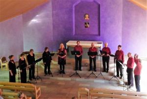 Concert Valborg Ensemble 'Licht en Donker' in de Lukaskerk Stemonthulling Zanglessen en koorvorming Maria Tomassen