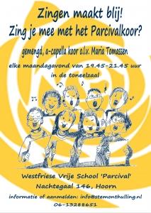 Zingen maakt blij! Zing mee met het Parcivalkoor in Hoorn! Stemonthulling Zanglessen en koorvorming Maria Tomassen