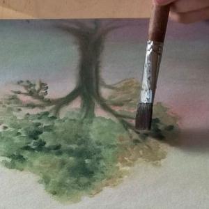 Jaarcursus Volg een boom een heel jaar rond. Marijke de Vries kunstzinnige therapie beeldend