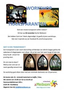 Workshop Transparanten Basisschool De Meiboom