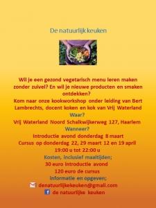 Workshop natuurlijk koken Vrij Waterland
