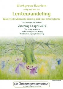 Lentewandeling De Christengemeenschap - Werkgroep Haarlem