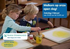 Open Dag zaterdag 3 februari Rudolf Steinerschool Haarlem Vrijeschool basisonderwijs