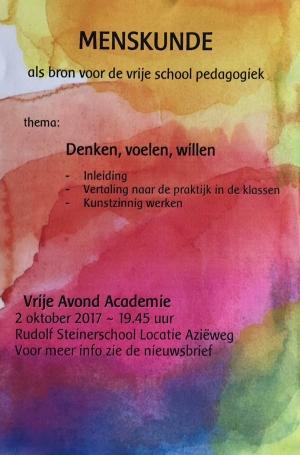 Vrije Avondacademie | Denken Voelen Willen Rudolf Steinerschool Haarlem Vrijeschool basisonderwijs