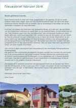 In deze nieuwsbrief van februari 2018 o.a. de aankondiging van het congres en driebergen en wederom de oproep voor foto's van antroposofische architectuur